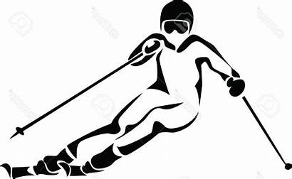 Skiing Skier Alpine Ski Drawing Vector Clipartmag