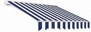 markise alu halbkassetten markisen blau weiss 350x250cm mit With markise balkon mit tapete blau weiß gestreift