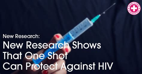 New Research Shows That One Shot Can Protect Against Hiv
