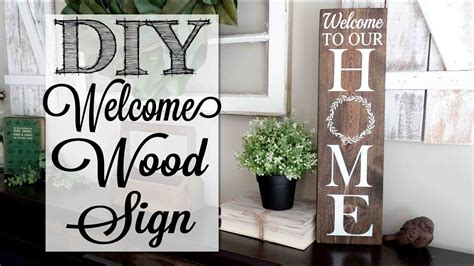 diy    home wood sign youtube