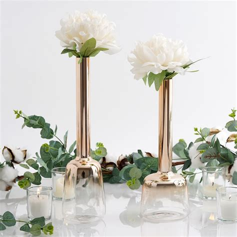 set   tall ombre glass tube flower vases party wedding
