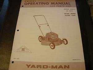 Yard Man Antique Tractor Yard Man Lawn Mower Push Mower