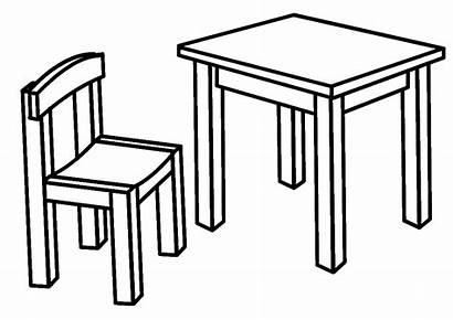Chair Coloring Furniture Pages Coloringtop