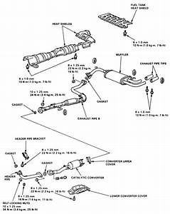 1998 Honda Civic Ex Exhaust System Diagram