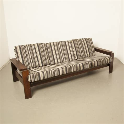 sofa with weng wood frame 1970s 80564