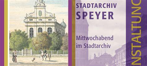 Vortragsreihe 2020 ist online!   Stadt Speyer