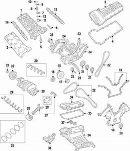 Lincoln Ls Engine Timing Cover Gasket  3 9 Liter  Lower