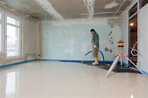 Ultraflache Fußbodenheizung