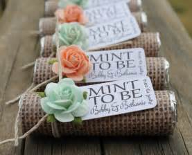 shabby chic wedding favor ideas mint wedding favors set of 24 mint rolls quot mint to be