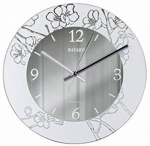Horloge Murale Silencieuse : pendule murale silencieuse argent e decor floral ~ Melissatoandfro.com Idées de Décoration