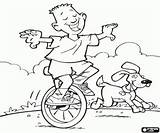 Unicycle Coloring Pages Child Games Sports Printable sketch template