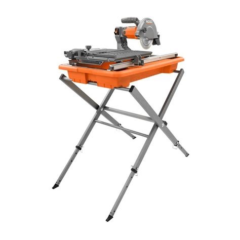 ridgid tile saw model r4030s ridgid 7 in tile saw with stand r4030s the home depot