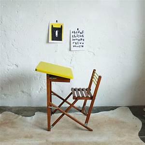 Bureau Enfant Vintage : bureau enfant pliant vintage atelier du petit parc ~ Teatrodelosmanantiales.com Idées de Décoration