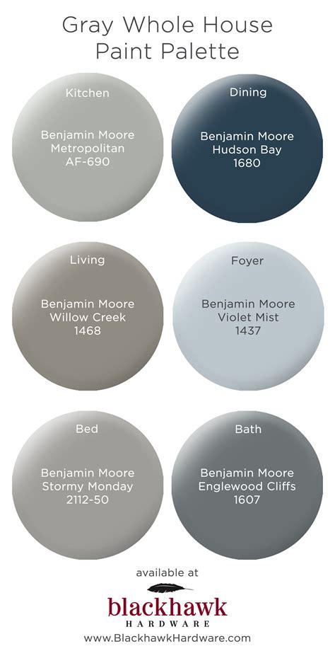 whole house paint palettes by benjamin blackhawk