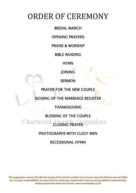wedding order  service sample wedding stationery