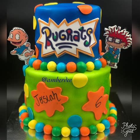 In today's video will be making a cocomelon birthday cake. Rugrats Two tier cake | Simple birthday party, 1st ...