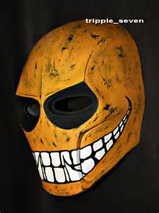 Custom Army of Two Halloween Costume Cosplay BB Gun Paintball Airsoft Mask Yellow Smiley MA05 am