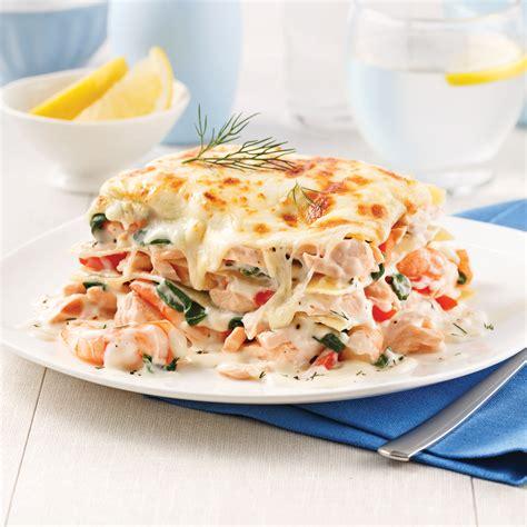 cuisine crevette lasagne au saumon et crevettes recettes cuisine et nutrition pratico pratique