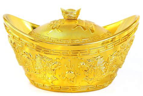 feng shui big shinning gold ingot for wealth and money