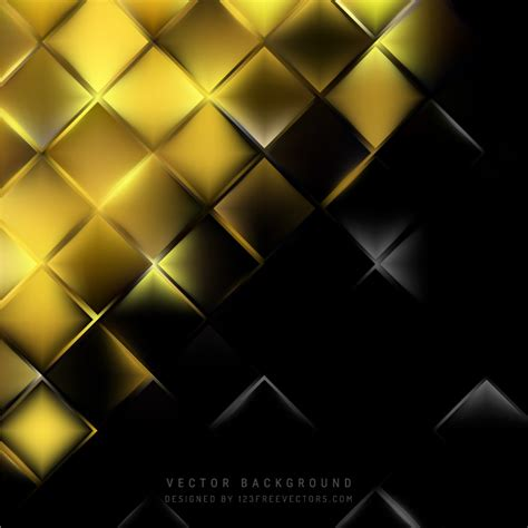 Abstract Black Background Design abstract black gold square background design 123freevectors
