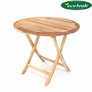 Tisch Rund 90 Cm : ploss eco teak tisch lexington rund 90 cm klappbar teak designm bel und ~ Indierocktalk.com Haus und Dekorationen