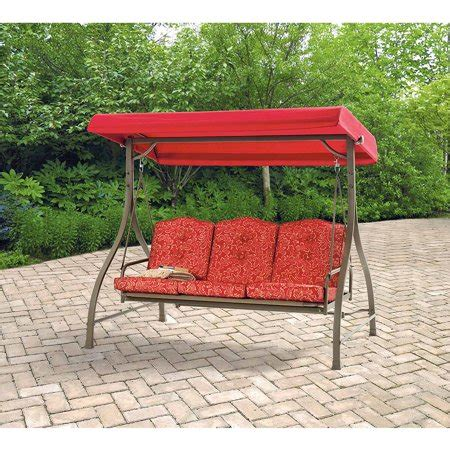 patio swing walmart mainstays warner heights converting outdoor swing hammock