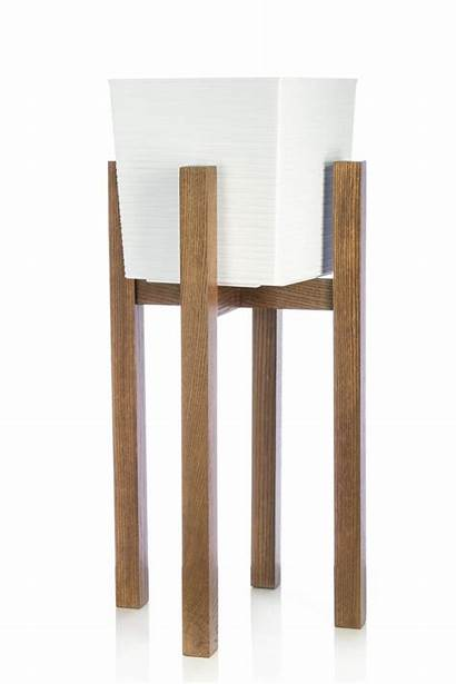 Plant Tall Indoor Stand Planter Wood 60cm