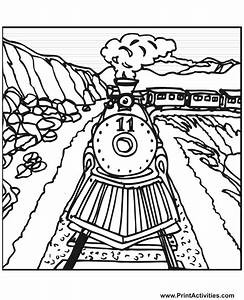 train coloring pages printable - steam train coloring page train number 11 on the tracks