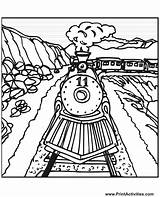 Train Coloring Steam Pages Trains Tracks Track Railroad Cartoon Colouring Printable Drawing Engine Draw Number Csx Freight Sheet Santa Sheets sketch template