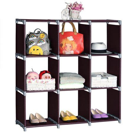 Bookcase For Clothes by Zimtown 9 Grids Storage Organizer Bookcase Closet Stacker