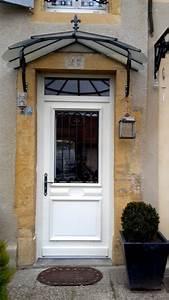 Porte D Entrée Blanche : porte d 39 entr e blanche avec vitre et grille de d fense ~ Melissatoandfro.com Idées de Décoration