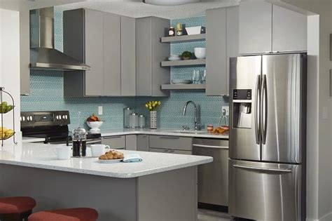 modern kitchen remodel  stylish minnesota condo