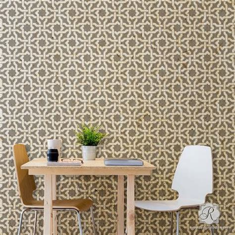 wall stencils  painting trendy classic stencils