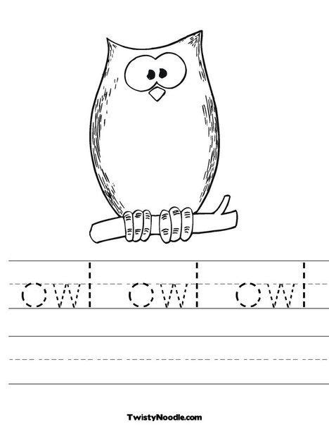 printable owl worksheets ruth thompson color sheet for
