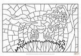Halloween Stained Coloring Glass Scene Pages Printable Haunted Supercoloring Books sketch template