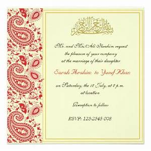 walima invitations announcements zazzlecouk With muslim wedding invitations messages