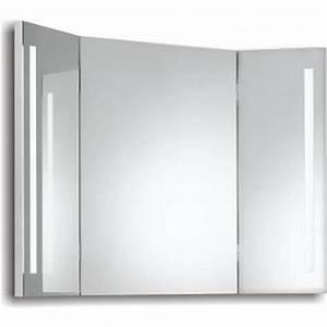 Miroir Coiffeuse Lumineux : 123 design miroir lumineux led de salle de bains triptyque x multicolore ~ Teatrodelosmanantiales.com Idées de Décoration