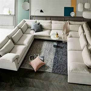 15 large sectional sofas that will fit perfectly into your for Build a sectional couch
