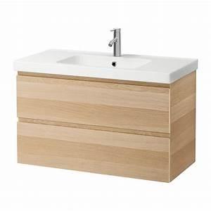 Ikea Waschtisch Godmorgon : godmorgon odensvik kast voor wastafel met 2 lades wit gelazuurd eikeneffect ikea ~ Orissabook.com Haus und Dekorationen