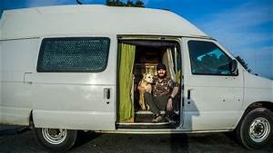 Functional Stealth Camper Conversation  With Homemade Shower  Rain Water Collection  Ford E350