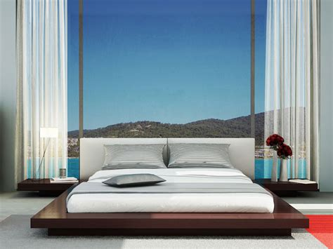 Beautiful Contemporary Minimalist Bedroom Decor With Brown
