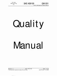 As9100 Quality Manual