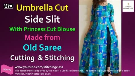 Boat Neck Umbrella Kurti by Umbrella Cut Side Slit Kurti With Princess Cut Blouse