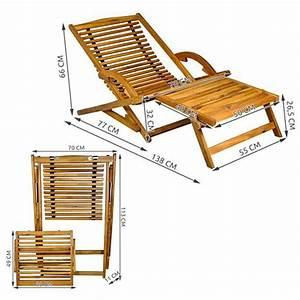 Transat En Bois : transat en bois chaise longue bain de soleil avec repose pieds marron distriartisan ~ Teatrodelosmanantiales.com Idées de Décoration