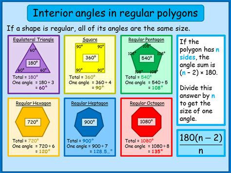 interior angles  regular polygons   topper