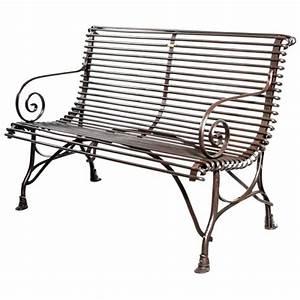 Banc En Fer : banc de jardin en m tal fer forg 2 places arras ~ Preciouscoupons.com Idées de Décoration