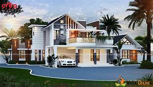 2909 Square Feet Double Floor Contemporary Home Design