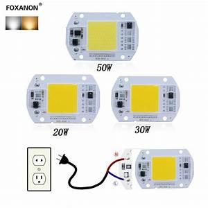 New Smart Ic Driver Led Light Bulb Cob Chip 110v 220v Input Integrated20  30  50w