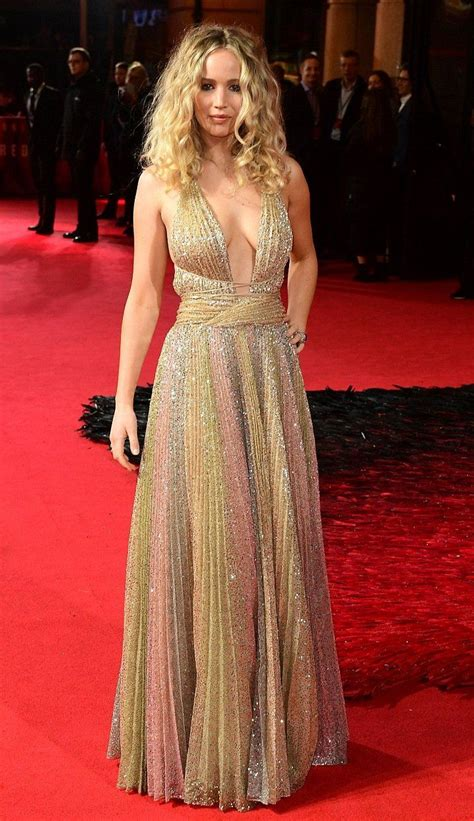 Jennifer Lawrence In Christian Dior Attends The London
