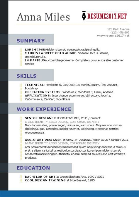 resume      resume styles